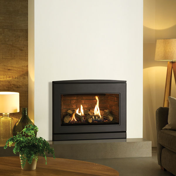 Yeoman CL670 5.6kw Inset LPG Gas Stove With Brick Effect Lining Lining - Balanced Flue