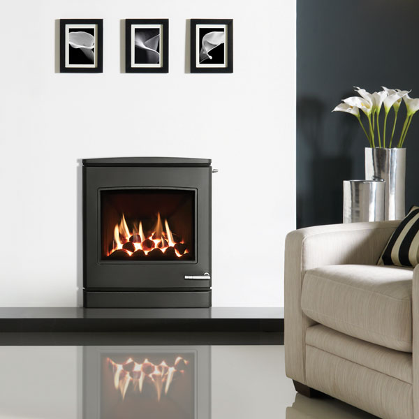 Yeoman CL7 4.5kw Inset LPG Gas Stove With Slide Control & Coal Effect - Conventional Flue