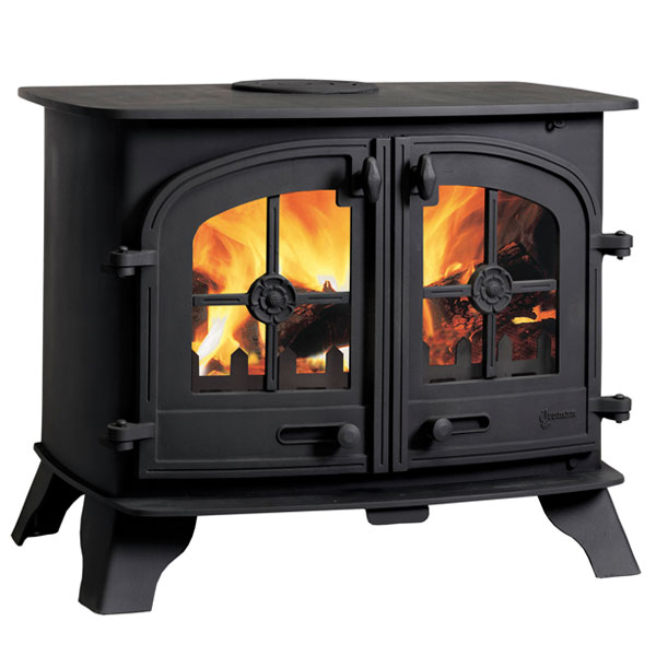 Yeoman County 13kw Wood Burning Stove - Double Doors